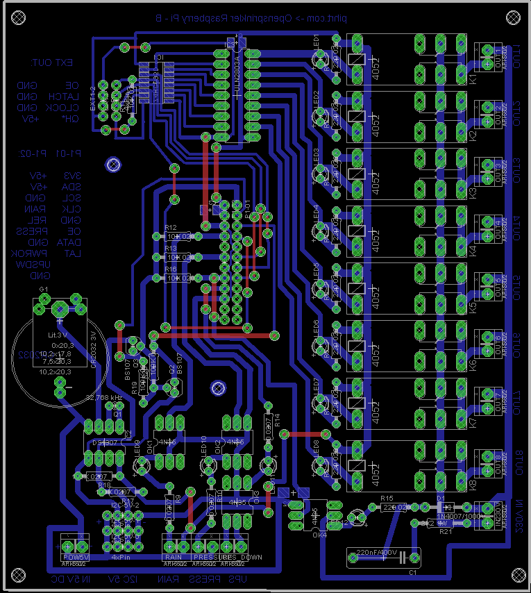 pcb pohled top